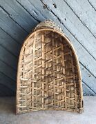 """Large Old Vintage Bamboo Handmade Primitive Sieve - Rice Grain Sifter 33"""""""