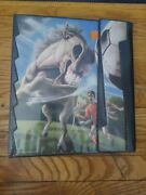 Vtg 91 Mead No Rules Horse Soccer Trapper Keeper 3 Ring Binder Notebook Graphic
