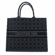 Christian Dior Book Tote Cannage Embroidered Velvet