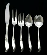 65 Pc Wallace Sterling Silver Flatware Wishing Star Full Service For 12 No Monos