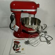 Kitchenaid 600 Pro Bowl Lift Stand Mixer Kp26m1xer5 Empire Red And 3 Attachments