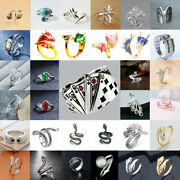 Fashion Menand039s Punk Animal Shape Open Ring For Women Party Punk Jewelry Xmas Gift