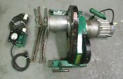 Greenlee 6001 6500lbs Super Tugger Cable Puller W/ Force Gauge And Chains