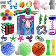 25 Pack Fidget Toys Set Sensory Toy For Stress Relief And Anti-anxiety For Kids