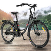 New 26 Electric Bike Mountain Bicycle Ebike350w Removeable W/led Smart Meter