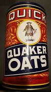 Vintage 1990 Quaker Quick Oats Company Tin Container Chicago U.s.a. - Free Ship