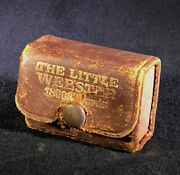 Antique The Little Webster Dictionary 18000 Words Leather Case
