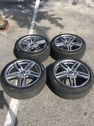 """Mercedes 19"""" Staggered Original Factory Alloy Graphite Wheels And Tires Used"""