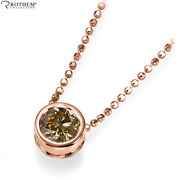 1.00 Ct Chocolate Diamond Pendant Rose Gold 14k Solitaire Necklace Si2 53653188