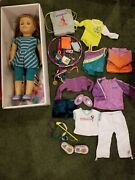 American Girl Doll Retired Mckenna With Extra Outfits Slightly Used