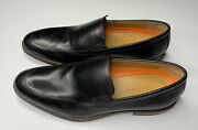 Cole Haan Mens Black Lenox Hill Leather Loafers Size 9 New