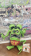 2001 Green Soft Latex Bendable Figure To Pose Rat Fink By Ed Big Daddy Roth