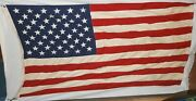 Vintage U.s. American 4and039x6and039 Valley Forge Spring City Best Cotton Stitched Flag