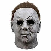 Halloween Michael Myers Mask Horror Cosplay Costume Grey Scary Realistic New