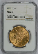 1900 20 Liberty Gold Double Eagle Ms63 Ngc Free Shipping