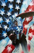 Alex Ross Rare Captain America 34 Canvas Giclee Signed Ep 16/25 Sold Out Coa