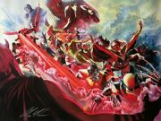 Alex Ross Rare X-men Evolution Canvas Giclee Signed Ep 15/25 Sold Out Coa