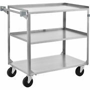 Utility Cart 39-1/4 X 22-3/8 X 37-1/4 500 Lb Cap Stainless Steel