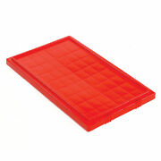 Lid For Stack And Nest Shipping Containers Snt200 Red Lot Of 6