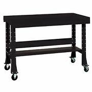 Shureshopand174 Mobile Bench W/acc Kit Painted Steel Top 72x 34 Gloss Black