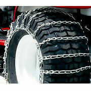 Maxtrac Snow Blower/garden Tractor Tire Chains 2 Link Spacing Steel Pair