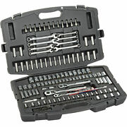Stanley 201 Piece 1/4and34, 3/8and34, And 1/2and34 Drive Mechanics Tool Set,