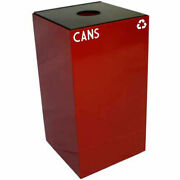 Witt Industries 28gc01-sc Steel Recycling Container With Bottle And Can Opening,