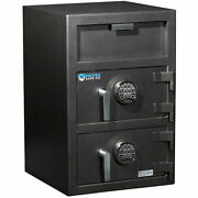 Protex Large Dual-door Front Loading Depository Safe With Electronic Lock,