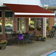 Awntech Retractable Awning Manual 14and039w X 10and039d X 10h Terra Cotta
