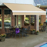 Awntech Retractable Awning Manual 14and039w X 10and039d X 10h Tan