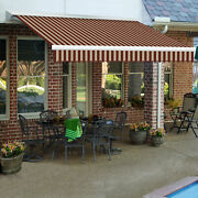 Awntech Retractable Awning Manual 16and039w X 10and039d X 10h Burgundy/tan