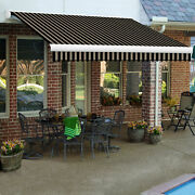Awntech Retractable Awning Manual 14and039w X 10and039d X 10h Black/tan