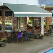 Awntech Retractable Awning Manual 14and039w X 10and039d X 10h Sage