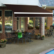 Awntech Retractable Awning Manual 16and039w X 10and039d X 10h Brown
