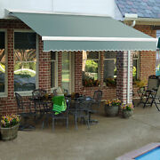 Awntech Retractable Awning Manual 16and039w X 10and039d X 10h Sage