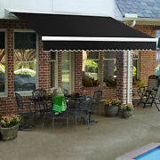 Awntech Retractable Awning Manual 16and039w X 10and039d X 10h Black