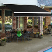 Awntech Retractable Awning Manual 14and039w X 10h X 10and039d Black