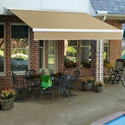 Awntech Retractable Awning Manual 14and039w X 10h X 10and039d Tan