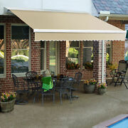 Awntech Retractable Awning Left Motor 8and039w X 7and039d X 10h Linen