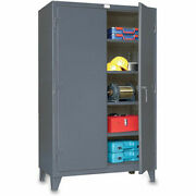 Strong Hold Ultra-capacity Lifetime Cabinet - 48x24x78 - Steel - Dark Gray