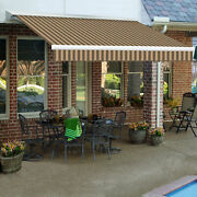 Awntech Retractable Awning Manual 14and039w X 10h X 10and039d Brown/tan