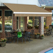 Awntech Retractable Awning Manual 12and039w X 10h X 10and039d Brown/tan