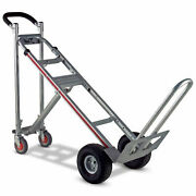 Magliner Tpauac 3-in-1 Aluminum Hand Truck With 10 Microcellular Wheels
