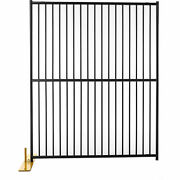 8 Panel Temporary Security Fence Kit European Style 60w X 72h Black Tiger
