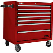 Homak Rd04036072 Pro Ii Series 7 Drawer Red Roller Tool Cabinet 36w X 24-1/2d