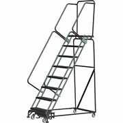 Ballymore Wa082414g 8 Step Safety Rolling Ladder Weight Actuated Lock Step 16w
