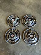 Vintage Mid 1960's 14 Chevy Ss Wheelcovers / Hub Caps - Set Of 4 Good Condition