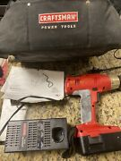 Craftsman 18.0 Drill Driver Charger Battery Bag 3/8in