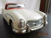 Mercedes Benz 300sl Large Tin Plate Toy Car Minicar Nomura Toy From Japan