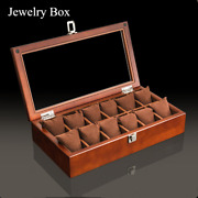 New Wood Watch Display Box Organizer Black Top Watch Wooden Jewelry Gift Cases
